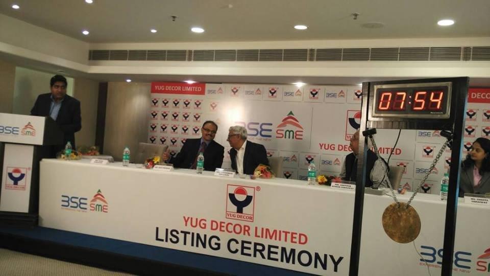 Yug Decor Limited ,Listing Ceremony , BSE ,SME ,Gretex Corporate