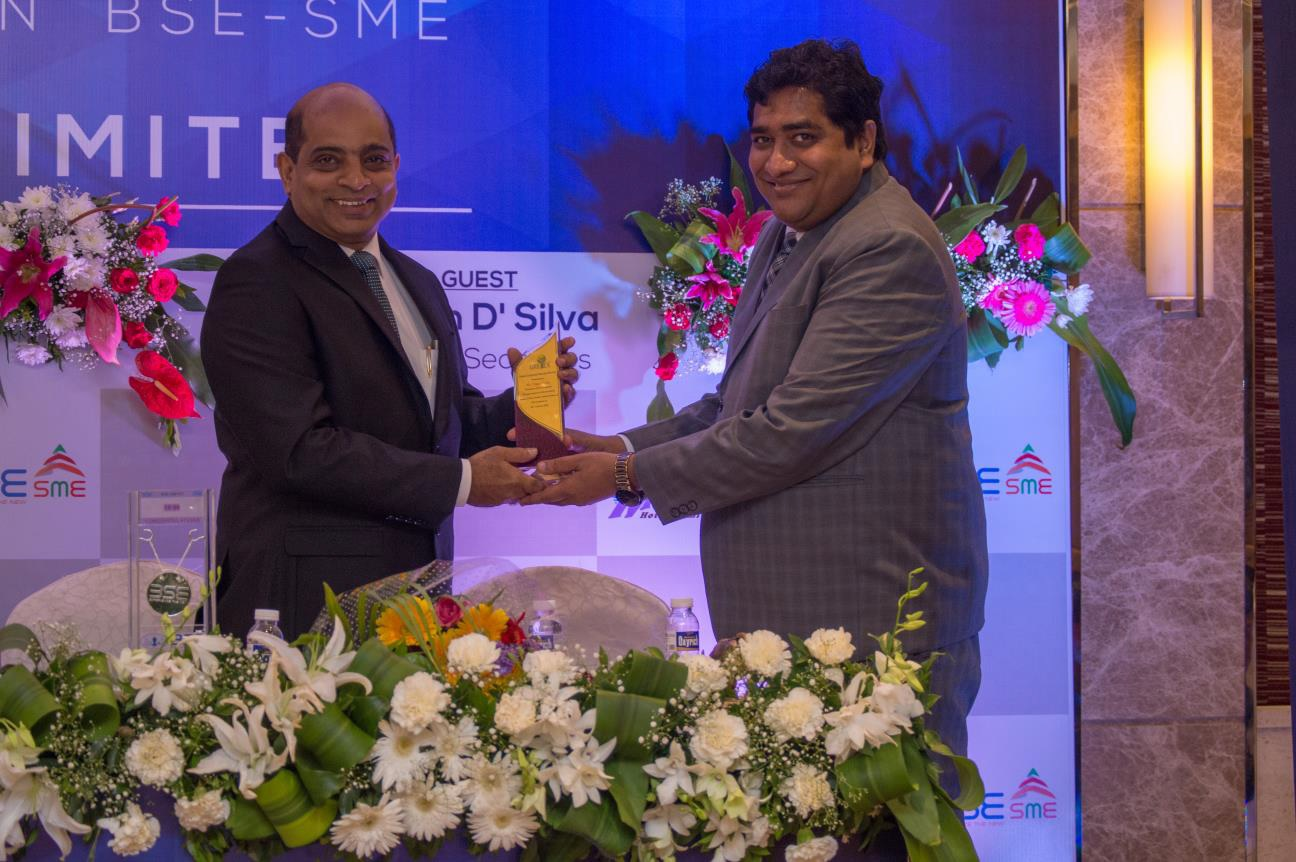 IPO Listing , Merchant Banker ,Award ,BSE-SME