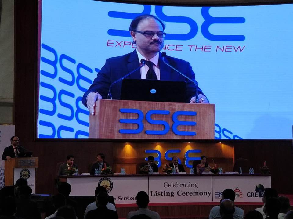 BSE , Listing Ceremony , Gretex corporate private limited